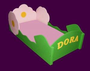 Flower Bed Toddler bed girl bed pink bed green bed