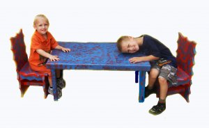 custom kids table set with two chairs