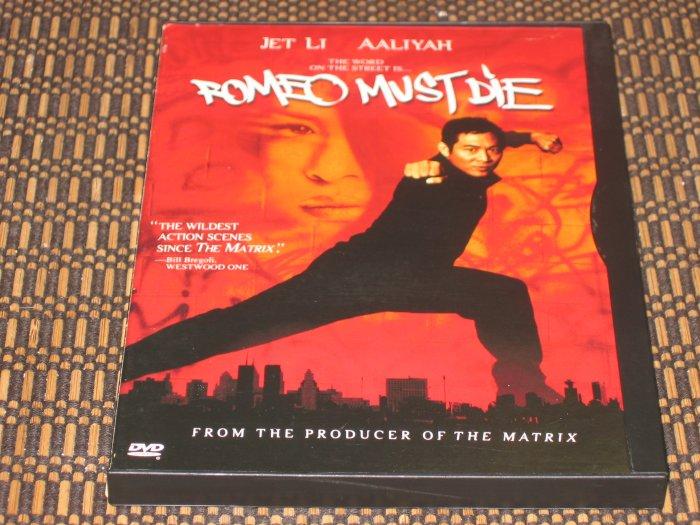 Romeo Must Die DVD Jet Li & Aaliyah Mint!