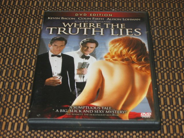 Where The Truth Lies DVD Colin Firth & Kevin Bacon Mint!