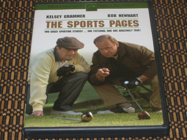 The Sports Pages DVD Kelsey Grammer & Bob Newhart Mint!
