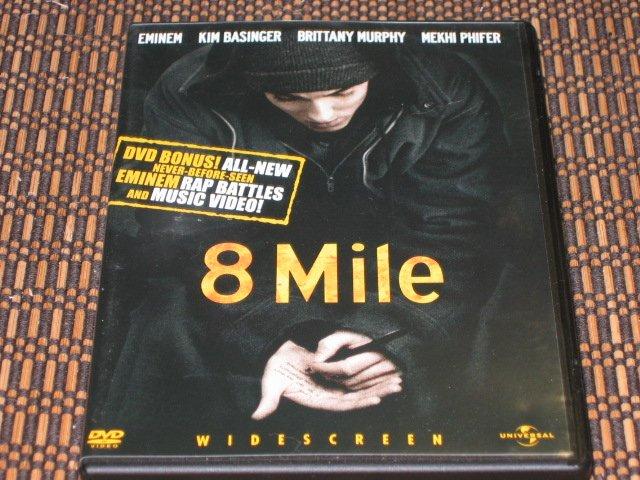 8 Mile DVD Eminem & Kim Basinger Eight Mile Mint!