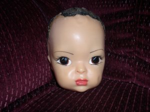 "Terri Lee bald head for 16"" hard plastic doll 1950's"