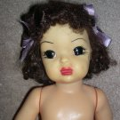 "Terri Lee 16"" Brunette Hard Plastic Doll to dress"