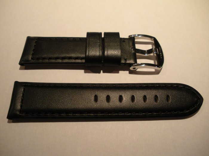 24mm Flat Black Leather Strap only for Panerai