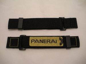 24mm Reverse Yellow/Black Nylon Velcro Dive Strap for Panerai 44mm