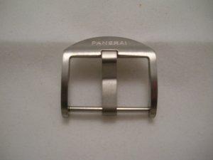 22mm Titanium Fingernail Buckle Brushed for Panerai