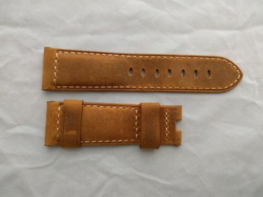 24mm Assolutamente Brown Leather Strap ONLY for Panerai