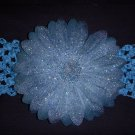 Large Dark Teal Glitter Single Layer Flower on Headband