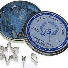 Snowflake Set in Storage Tin - 5 Pieces, L415