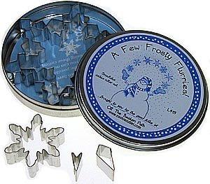 Snowflake Set in Storage Tin - 5 Pieces, L415