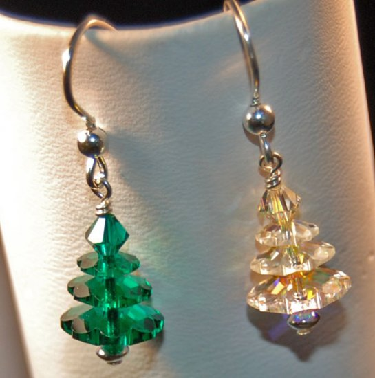 Swarovski Tree Earrings