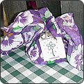 Lavendar Sugar Cookies Mix Bandana Gift Set