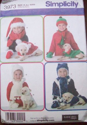 Simplicity #3973 Child and Dog Matching Fleece Accessories