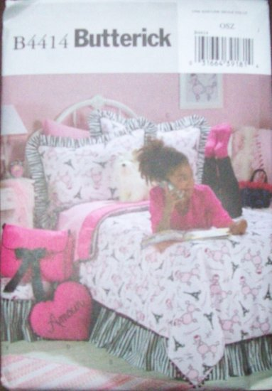 Butterick #B4414 Girl's Room Full / Twin Bedding with Accessories