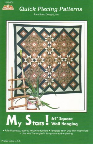 My Stars! Square Wall Hanging Pattern ~ FREE SHIPPING ~