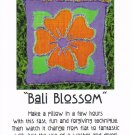 """Bali Blossom"" Pillow Pattern Raggedy Reverse Appliqué ~ FREE SHIPPING ~"