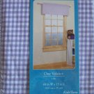 NEW HOMETRENDS GINGHAM RICKRACK VALANCE 40x15 LILAC ~FREE SHIPPING~