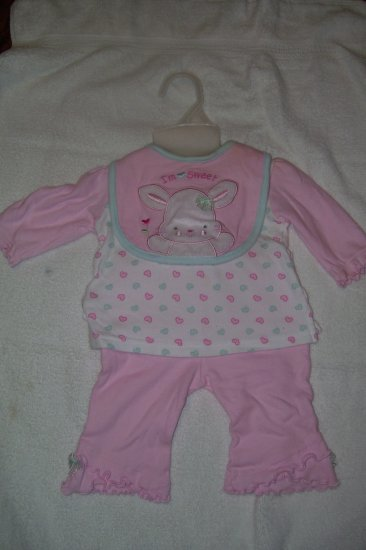 3pc Outfit With Matching BIb