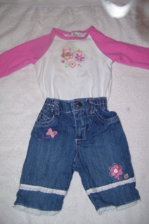 2pc. Blue Jeans Outfit