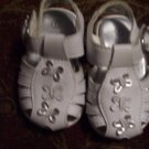 White/Silver Butterfly Sandals