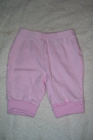 Solid Pink Pants With Pin Stripes