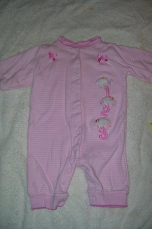 """Pink """"Kitty"""" Sleeper/Outfit"""