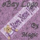 Cute Bear Purple Customized eBay Store Logo 310 X 90 #L032