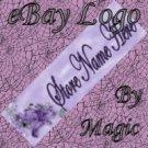 Purple Flower Customized eBay Store Logo 310 X 90 #L030