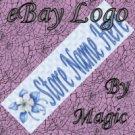 Blue Flower Customized eBay Store Logo 310 X 90 #L023