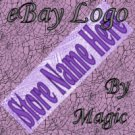 Purple Texture Customized eBay Store Logo 310 X 90 #L020