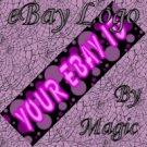 Purple Pink and Black Customized eBay Store Logo 310 X 90 #L007