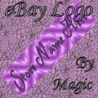 Purple Satin Customized eBay Store Logo 310 X 90 #L059