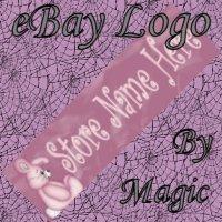 Cute Pink Stuffed Bunny Customized eBay Store Logo 310 X 90 #L060