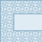 Aqua Blue Flower Pattern Ebay, OLA, Overstock Ad Listing Template Html Web Page #091