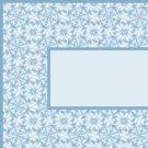 Aqua Blue Flower Pattern Ebay, OLA, Overstock Ad Listing Template Html Web Page #091