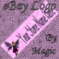 Purple and Pink Fairy Customized eBay Store Logo 310 X 90 #L073