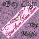 Heart Scroll Design Customized eBay Store Logo 310 X 90 #L082