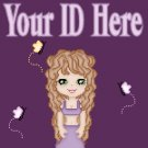 Purple Cartoon Long Hair Girl My Space, eBay My World, Web Icon #M001