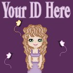 Purple Cartoon Long Hair Girl My Space, eBay My World, Web Icon #M001
