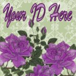 Purple Roses on Pale Green My Space, eBay My World, Web Icon #M002
