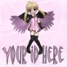 Pink Anime Fairy My Space, eBay My World, Web Icon #M008