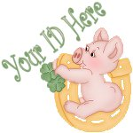 Lucky Horse Shoe Pig My Space, eBay My World, Web Icon #M010