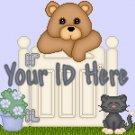 Teddy Bear Behind Gate My Space, eBay My World, Web Icon #M018