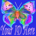 Bright Multi-Colored Butterfly My Space, eBay My World, Web Icon #M023