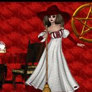 Wiccan Scene with Witch and Pentagram Ebay, OLA, Overstock Ad Listing Template Html Web Page #096