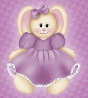 Purple Stuffed Bunny Rabbit eCrator Store Logo Set Web Set OOAK #E07