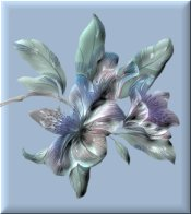 Floral on Light Blue eCrator Store Logo Set Web Set OOAK #E18