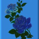 Blue Roses on Blue eCrator Store Logo Set Web Set OOAK #E19