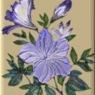 Blue Flowers on Beige eCrator Store Logo Set Web Set OOAK #E22